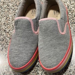 GAP Factory Shoes - Gap Outlet Slip-On Sneakers with rainbow trim